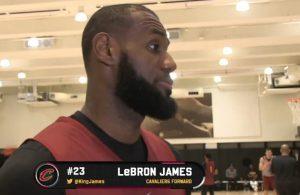 LeBron James Cavs Interview