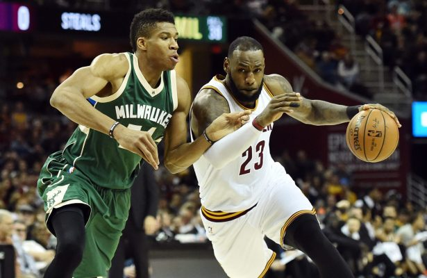Giannis Antetokounmpo and LeBron James