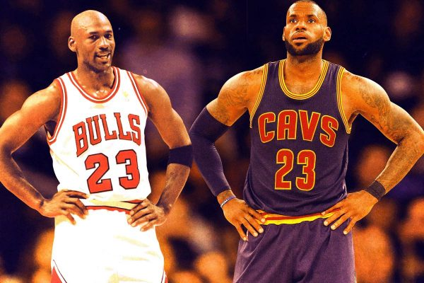 Michael Jordan and LeBron James