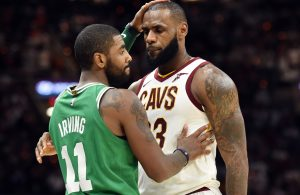 LeBron James and Kyrie Irving, Cavs and Celtics