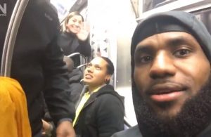 Video: LeBron James Gives Fans Inside Look as Cavs Take Subway in New York
