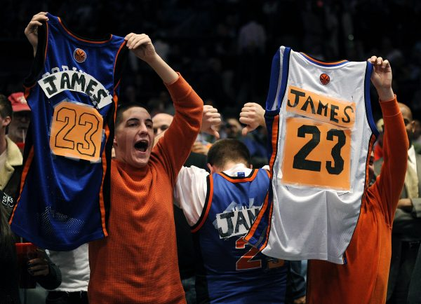 LeBron James Knicks Fans