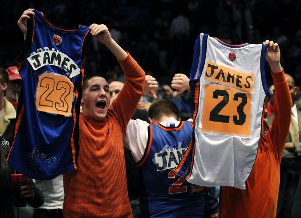 LeBron James Knicks Fans