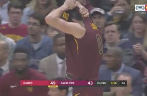 Video: Kevin Love Rips His Jersey in Frustration