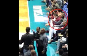LeBron James Arguing With Hornets Fan