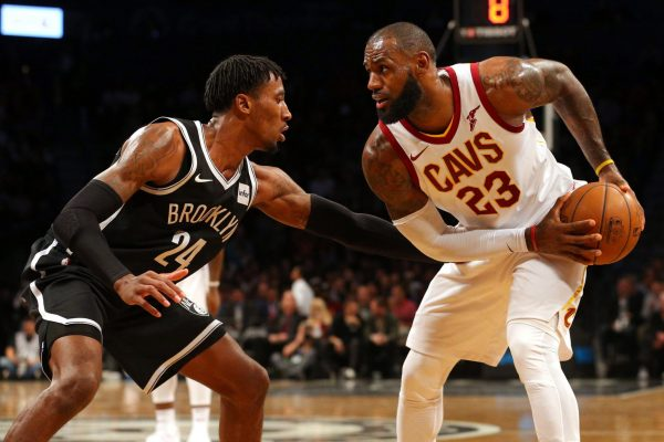 Rondae Hollis-Jefferson and LeBron James