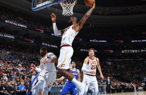 LeBron James Rebound Philadelphia 76ers