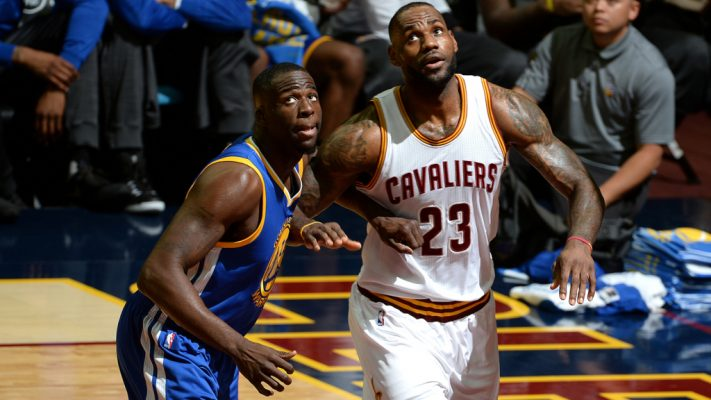 Draymond Green and LeBron James NBA Finals