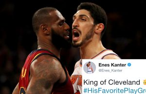 LeBron James and Enes Kanter
