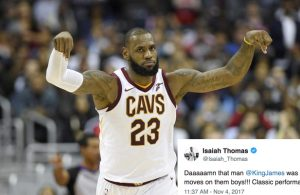 Isaiah Thomas Reacts to LeBron James Dropping Franchise-Record 57 Points