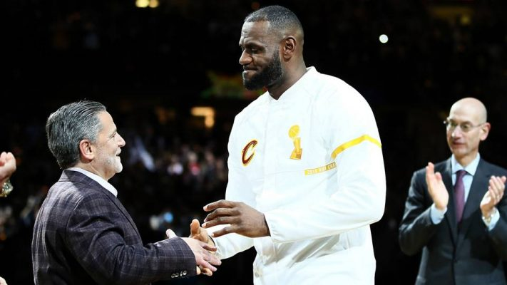 LeBron James Dan Gilbert Cavs
