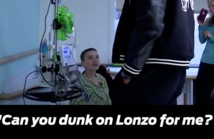 Kid Asks LeBron to Dunk on Lonzo For Him