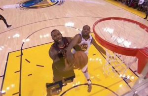 Kevin Durant Fouling LeBron James