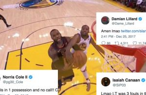 NBA Players React to Controversial No-Calls on Kevin Durant in Christmas Game