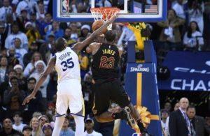 Kevin Durant Fouls LeBron James