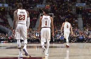 LeBron James and Derrick Rose Cavs