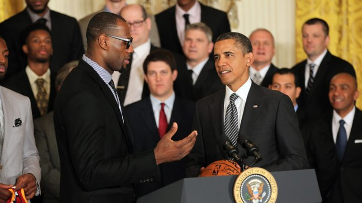 LeBron James and Barack Obama