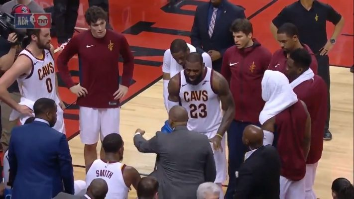 VIDEO: LeBron James Goes Off on Teammates and Coaching Staff During Timeout