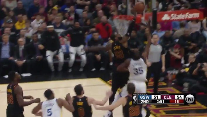 Video: LeBron James Rejects Kevin Durant With Nasty Chase ...