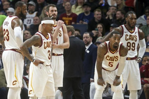 Isaiah Thomas and Kevin Love Cavs