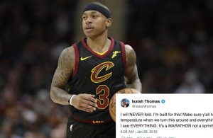 Isaiah Thomas Sends Message to Haters via Social Media