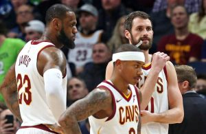 LeBron James, Isaiah Thomas, and Kevin Love