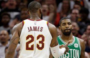 LeBron James and Kyrie Irving Cavs Celtics
