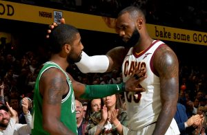 Kyrie Irving and LeBron James Cavs Celtics