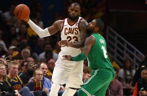 Kyrie Irving and LeBron James, Cavs vs. Celtics