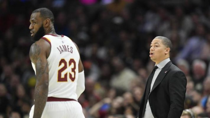 LeBron James and Tyronn Lue Cavs