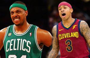 Paul Pierce and Isaiah Thomas Cavs Celtics