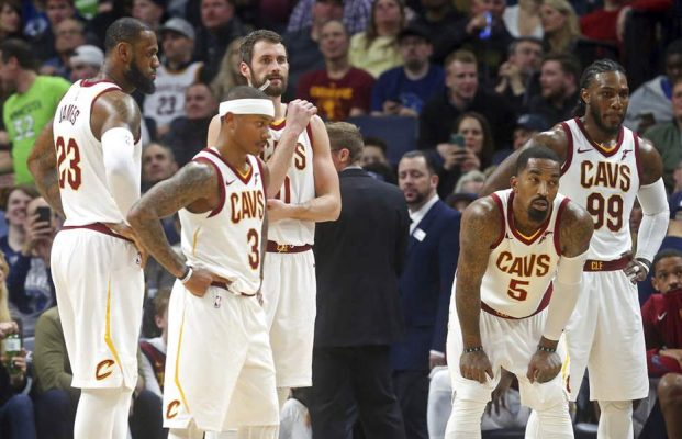 LeBron James, Isaiah Thomas, Kevin Love, J.R. Smith, and Jae Crowder