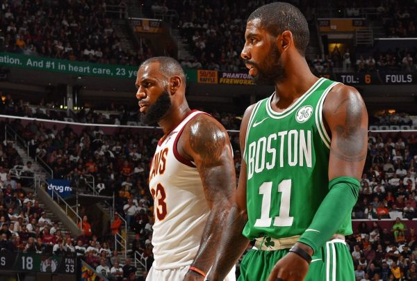 LeBron James and Kyrie Irving Cavs Celtics