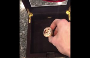 VIDEO: Kevin Love Shows Off Championship Ring to Haters