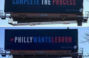 Philadelphia Billboards LeBron