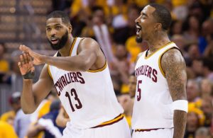Tristan Thompson and J.R. Smith Cavs