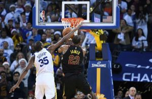LeBron James Getting Fouled by Kevin Durant