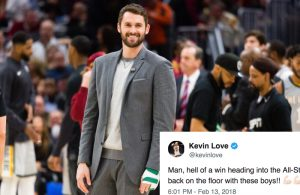 Kevin Love's Epic Reaction After Cavs Beat Thunder