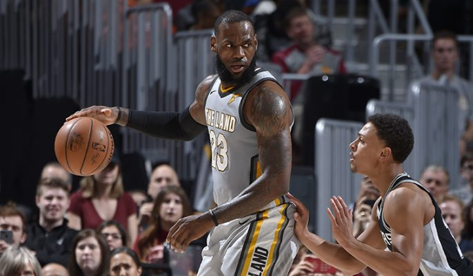 LeBron James Cavs vs. Spurs