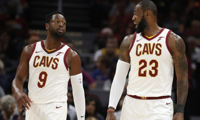 Dwyane Wade and LeBron James Cavs