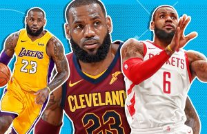 LeBron James Lakers, Cavs, Rockets