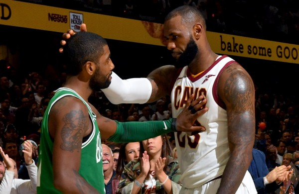 79af2186a59 LeBron James and Kyrie Irving Mend Fences at 2018 All-Star Weekend