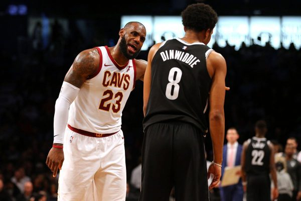 LeBron James and Spencer Dinwiddie