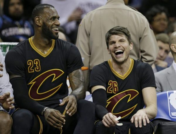 LeBron James and Kyle Korver Cavs