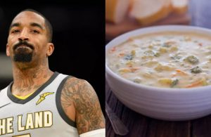 J.R. Smith Throwing Soup