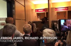 LeBron and Richard Jefferson Cavs Locker Room