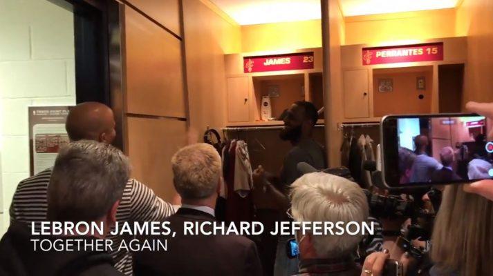 LeBron and Richard Jefferson Cavs Locker Room