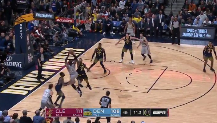 LeBron James Hits 4 Cold-Blooded Shots in a Row to Beat Nuggets