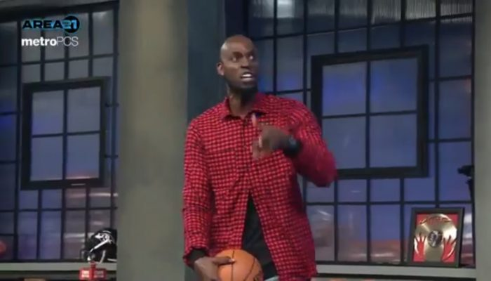 Kevin Garnett Gets Heated During LeBron-Jordan Debate