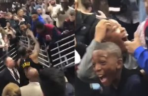 Kids Erupt, Fan Cries Tears of Joy After Receiving LeBron's Arm Sleeve